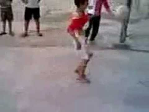 AMAZING football 3 year kid talent- slum