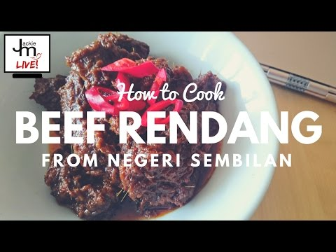 LIVE - How to Cook Beef Rendang from Negeri Sembilan