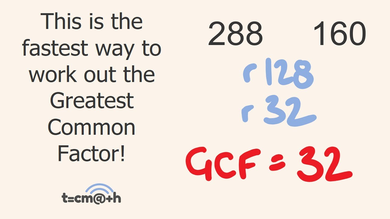 Greatest Common Factor Trick GCF - YouTube