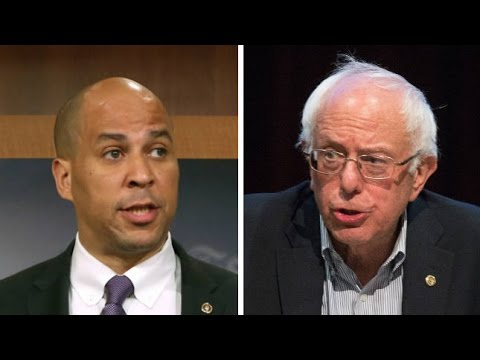 Bernie Sanders Stabbed In The Back By Big Pharma Sellout Cory Booker
