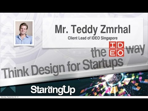 [ideas.inc 2012 Keynote] Teddy Zmrhal - Think Design for Startups, the IDEO Way