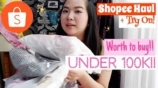 SHOPEE HAUL + TRY ON| Under 100k!! INDONESIA