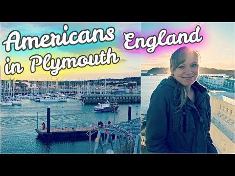 😱 AMERICANS VISIT THE MAYFLOWER STEPS! ⛵ // Plymouth, UK