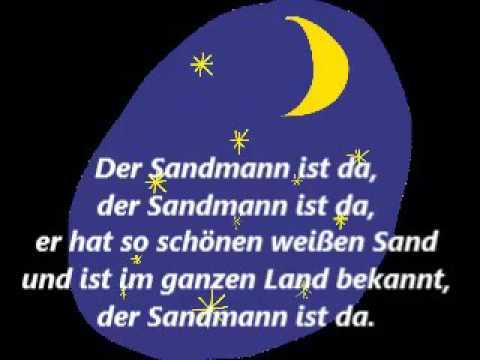 Singe mit! Der Sandmann ist da! Text! lyrics