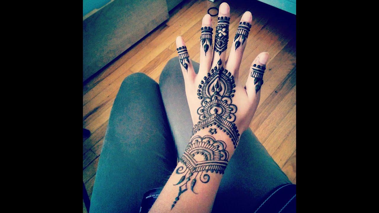 How To Henna Art By Divya Patel Youtube