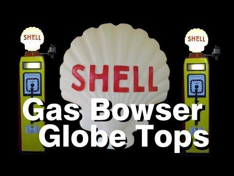 SHELL Petrol Bowser Globe Light Sign White UK USA