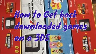 How to re-download pre installed software back onto a 2DS / 3DS via the E shop