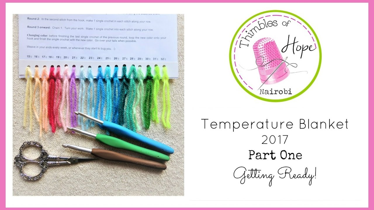 Crochet Temperature Blanket 2017 Part One Getting Ready