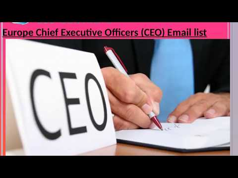 Europe Chief Executive Officers CEO Email list