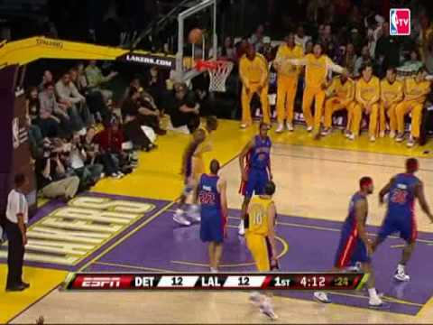Kobe Bryant Skies for the Alley-Oop Jam
