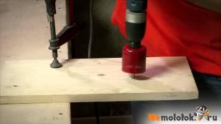 видео Вырезание отверстий большого диаметра