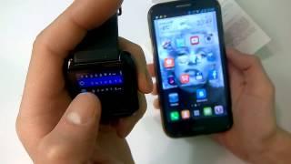 Bluetooth Smartwatch U watch U8 / Умные часы и ПО для Android / BT Notification