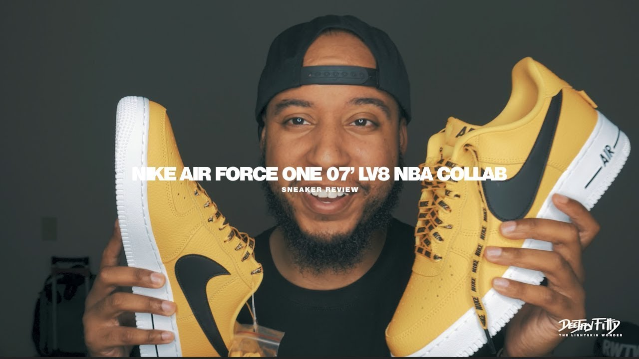 nike air force one nba collaborazione scarpe revisione su youtube