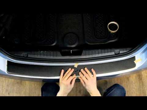 Наклейка на задний бампер для Chevrolet Cruze (Шевроле Круз) седан