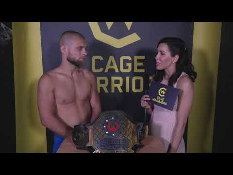 Mads Burnell interview moments after winning Cage Warriors title