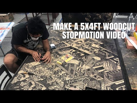 MAKING A 5x4ft WOODCUT (printmaking Process Step By Step)