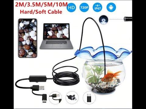 Распаковка посылки из Китая № 107 эндоскоп, камера, бороскоп для смартфона  3в1 Micro USB/type-С