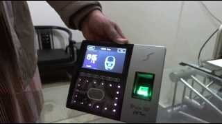 How to configure zk iFace702 face recognition time attendance device