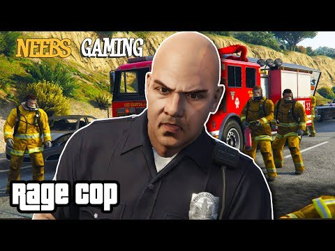 RAGE COP: Firefighter Throw Down (Grand Theft Auto 5 Funny Gameplay Series)