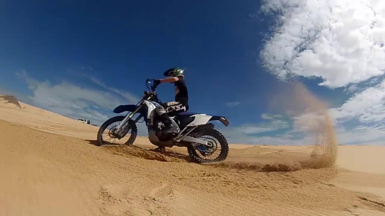 Sand Dune Dirt Bike Riding At Stockton Beach Youtube