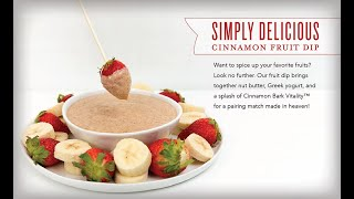 Simply Delicious Cinnamon Fruit Dip Recipe | Young Living Essential Oils