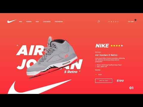 01 Nike Product checkout design - HTML/CSS Tutorial thumbnail