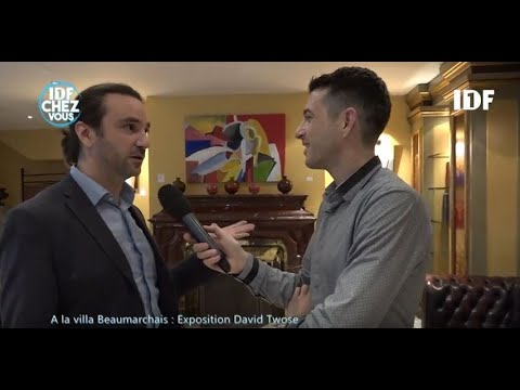DAVID TWOSE PAINTER TV INTERVIEW / VILLA BEAUMARCHAIS SOLO SHOW (2017-2018)