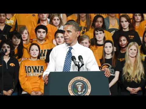 President Obama speaks at the University of Iowa - April 25, 2012