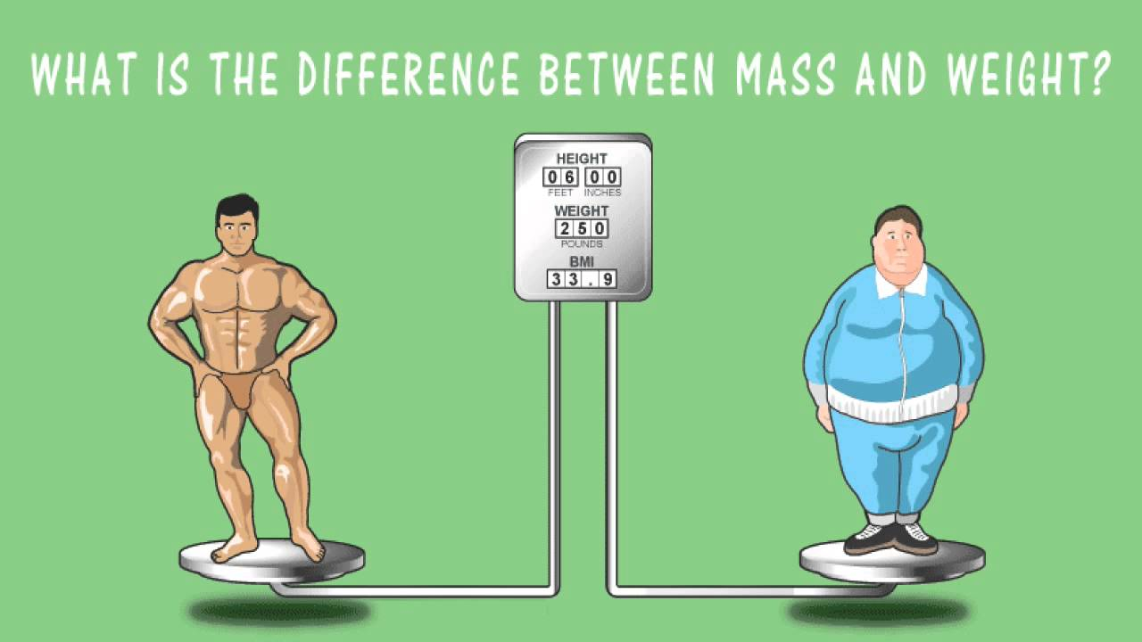 what is the difference between mass and weight   youtube