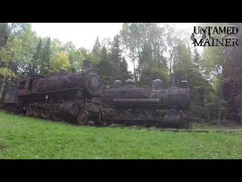 Ten Minutes of Maine:  Eagle Lake & West Branch Railroad- Abandoned Steam Locomotives