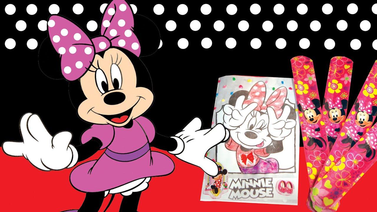 Minnie Mouse Coloring book / Libro para colorear y pulceras - YouTube