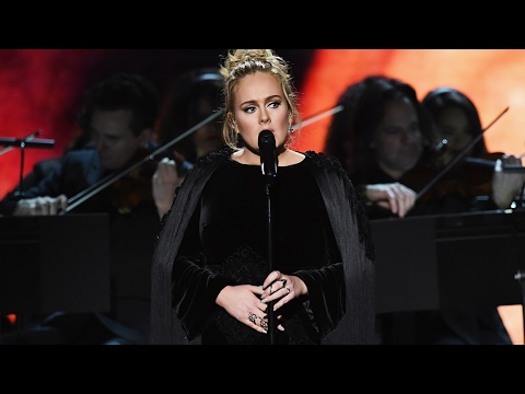Adele STOPS, Swears & Restarts George Michael Tribute During 2017 Grammy Awards Performance