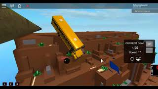 Roblox Let's Go Bus 1999 School Bus Crash scene