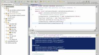 Android 3 Programming Tutorial. User interface Java versus Xml