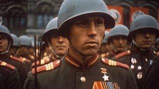 Парад Победы 9 МАЯ (1945 года) в ЦВЕТЕ в хорошем качестве
