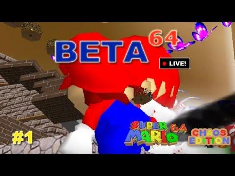 Super Mario 64: Chaos Edition #1 - Beta64 Live (JFF)