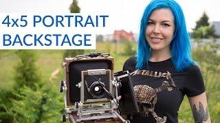 Shooting a 4x5 Large Format Portrait