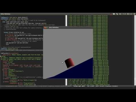 3d-graphics camera implementation explanation (OpenGL + Comm