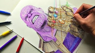 Drawing THANOS - Avengers: Infinity War