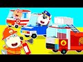 Wolf Family⭐️ Wolfoo Learns about Rescue Team with Fire Truck, Police Car, Ambulance   Kids Cartoon