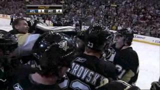Jordan Leopold First Goal For The Pittsburgh Penguins 2010-4-3