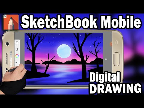 Speed Painting of beautiful landscape -Sketchbook On Android Mobile – Speed art by Pallab Biswas