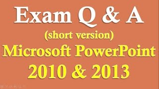 Exam Prep PowerPoint 2016/2013/2010 (Short version)