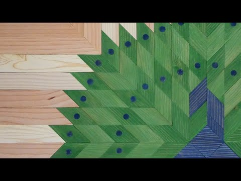 NOOB Attempts GEOMETRIC Wood ART Peacock