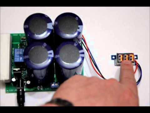 The Portable Super Capacitor Battery Bank With Voltage