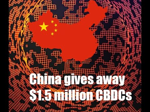 China gives away $1.5 million of their CBDC!