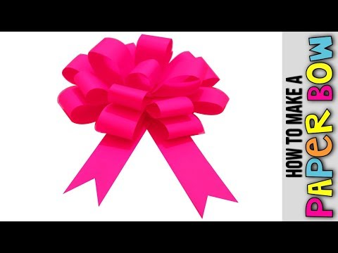 How to Make  Easy Paper Bow  Step by Step  🎀 Papierowa Kokarda 🎀 DIY Easy paper bow gift wrap