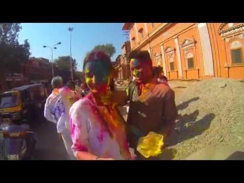 Holi // Jaipur India GoPro HD
