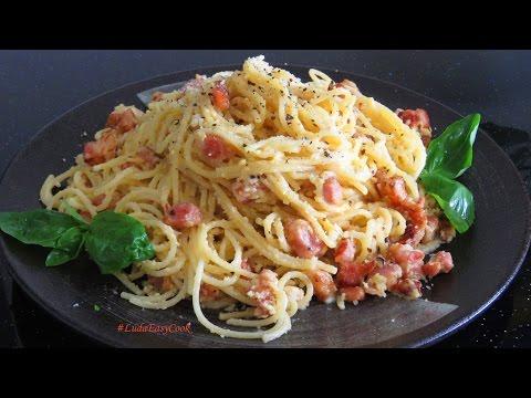Паста КАРБОНАРА классический рецепт итальянской кухни спагетти карбонара PASTA CARBONARA mì Ý
