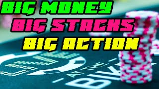 Money Piles In With Combo Draw vs Over Pair ♠ Live at the Bike!